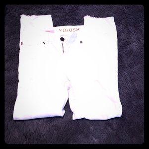 Vigoss Cropped White Jeans